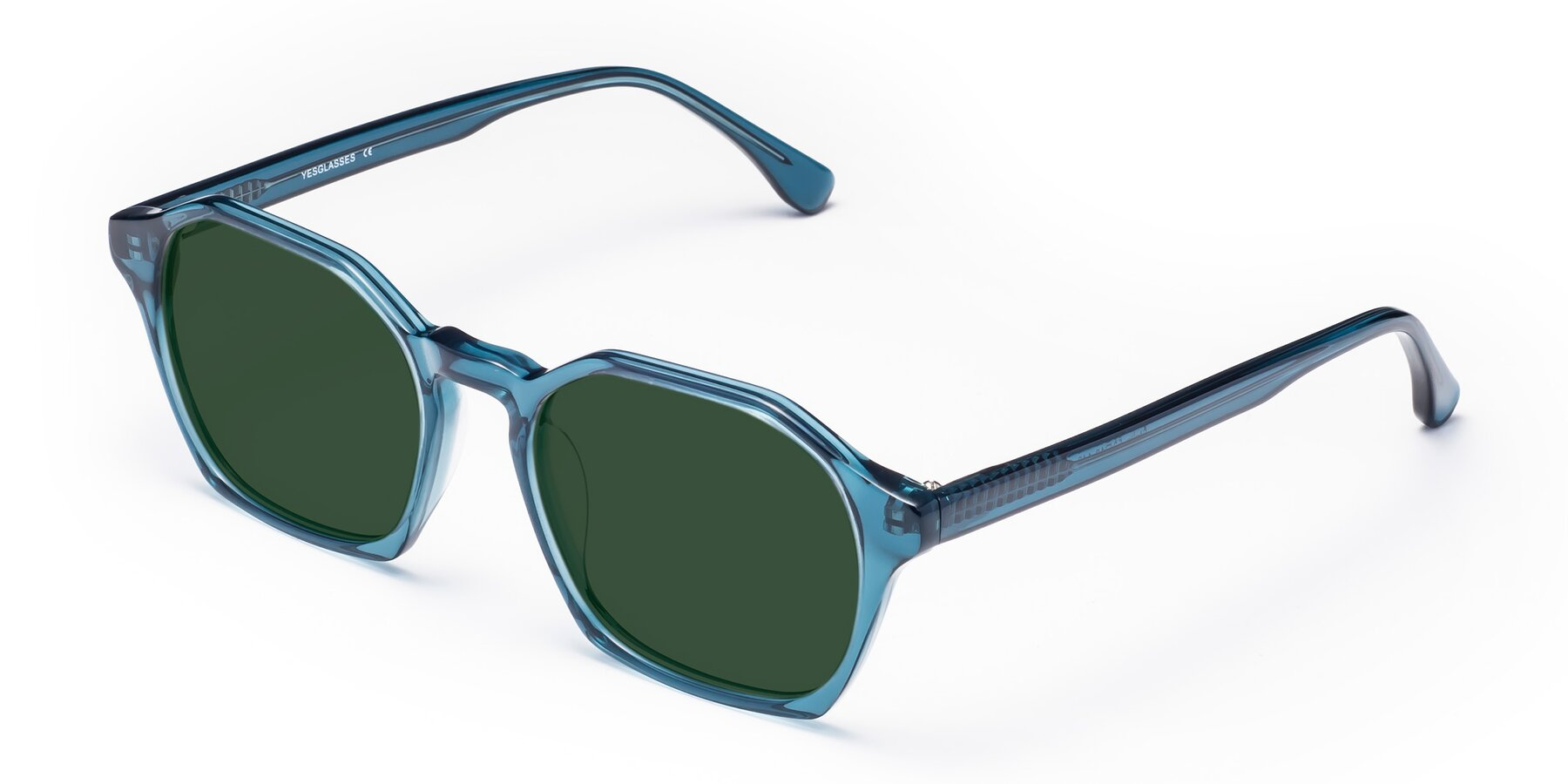 Angle of Stoltz in Ink Blue with Green Tinted Lenses