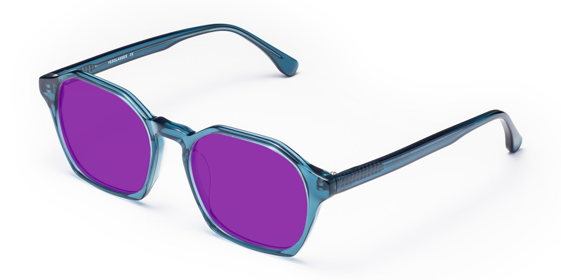 Angle of Stoltz in Ink Blue with Purple Tinted Lenses