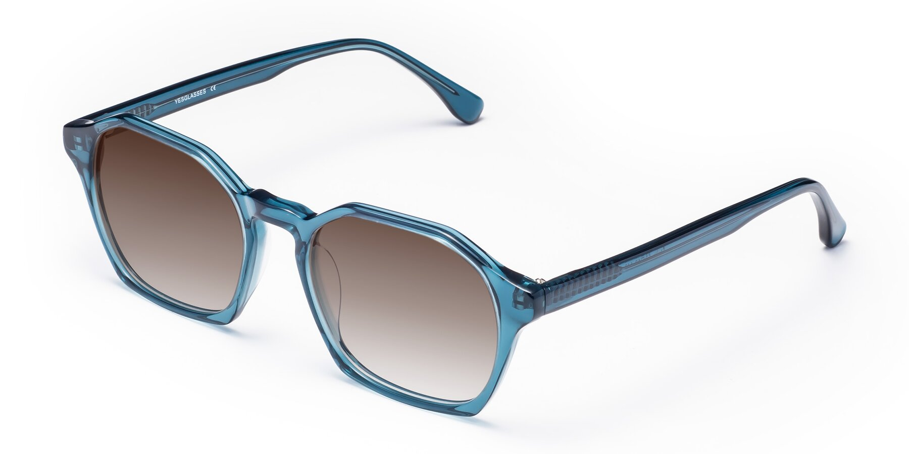 Angle of Stoltz in Ink Blue with Brown Gradient Lenses