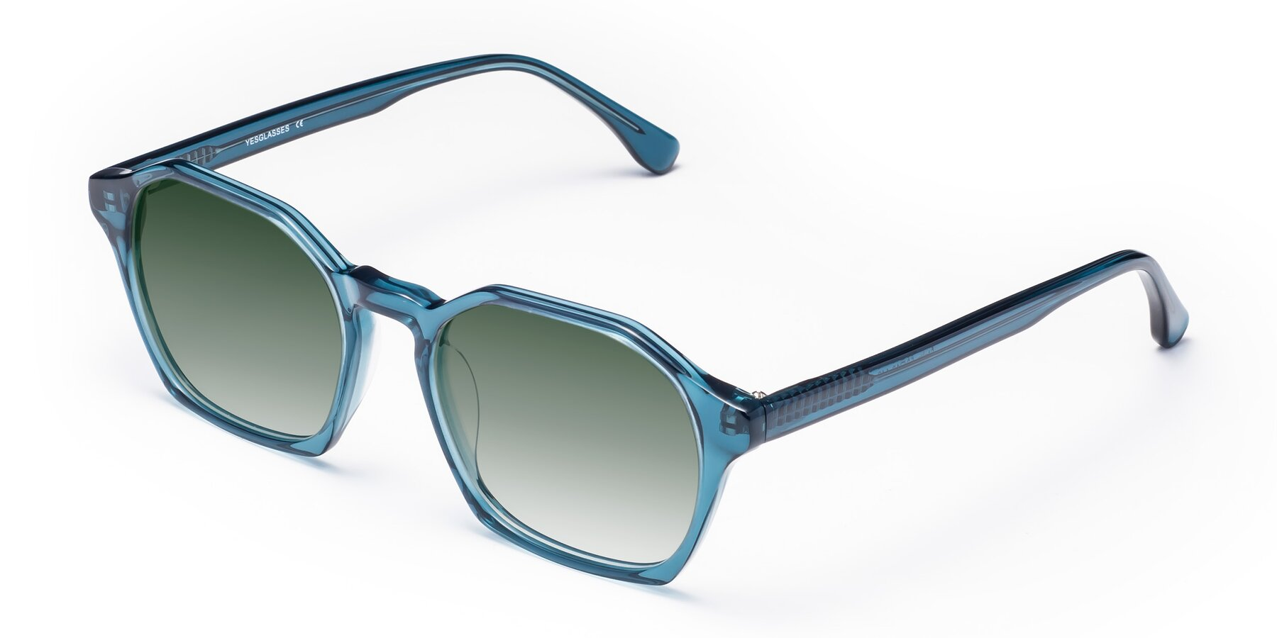 Angle of Stoltz in Ink Blue with Green Gradient Lenses