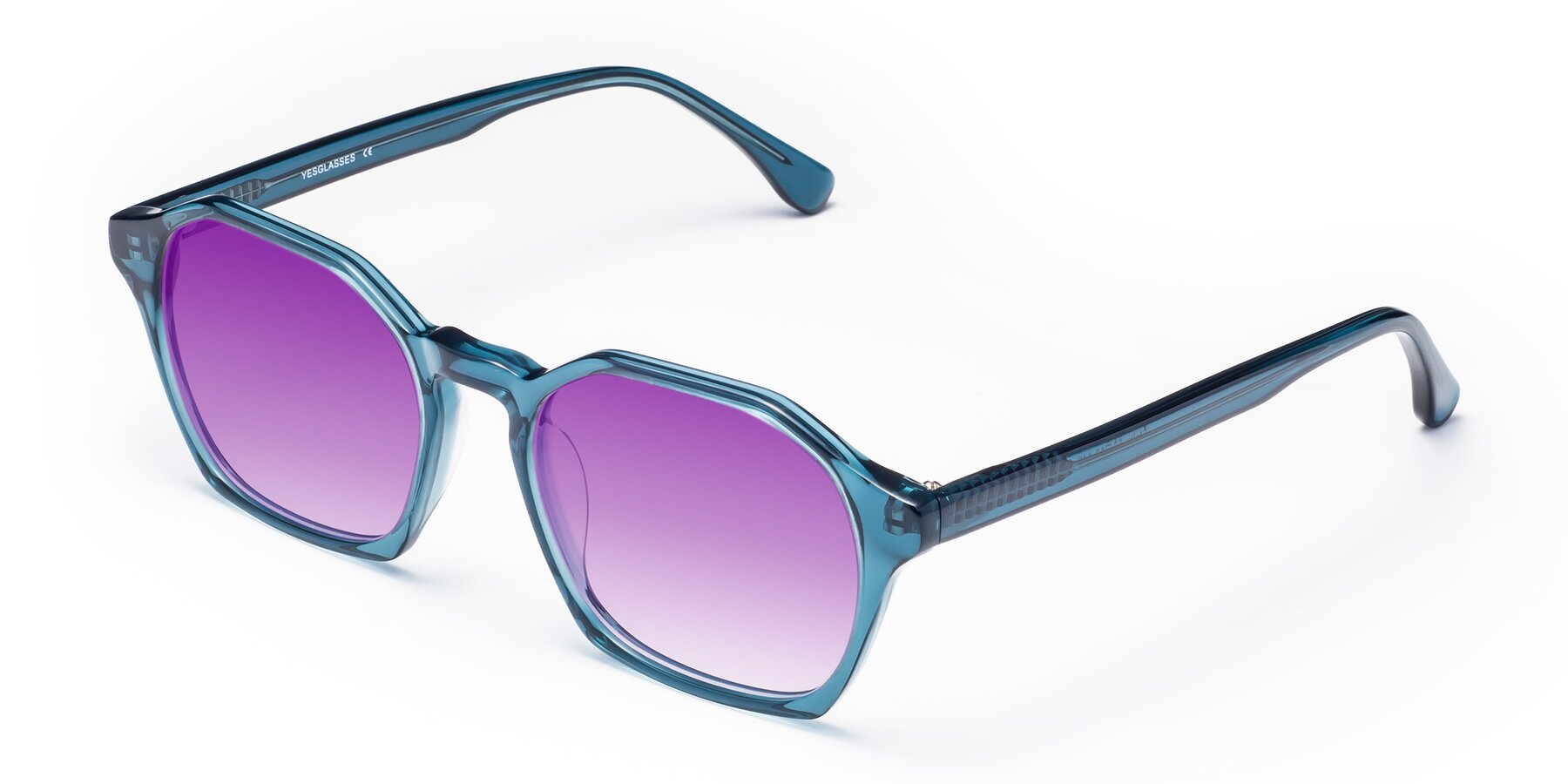 Angle of Stoltz in Ink Blue with Purple Gradient Lenses