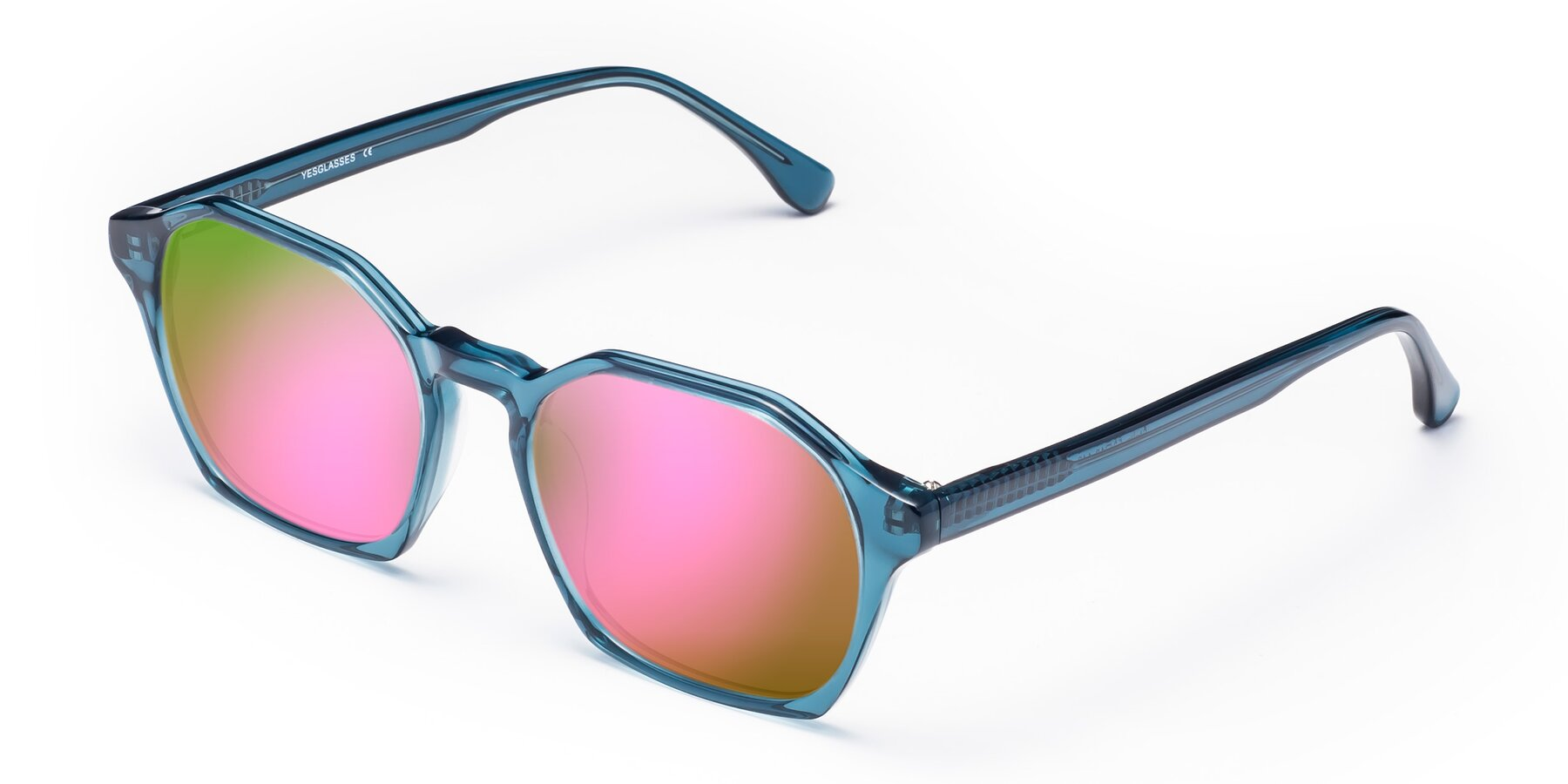 Angle of Stoltz in Ink Blue with Pink Mirrored Lenses