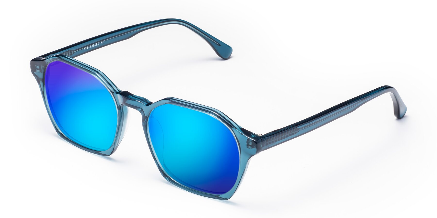 Angle of Stoltz in Ink Blue with Blue Mirrored Lenses