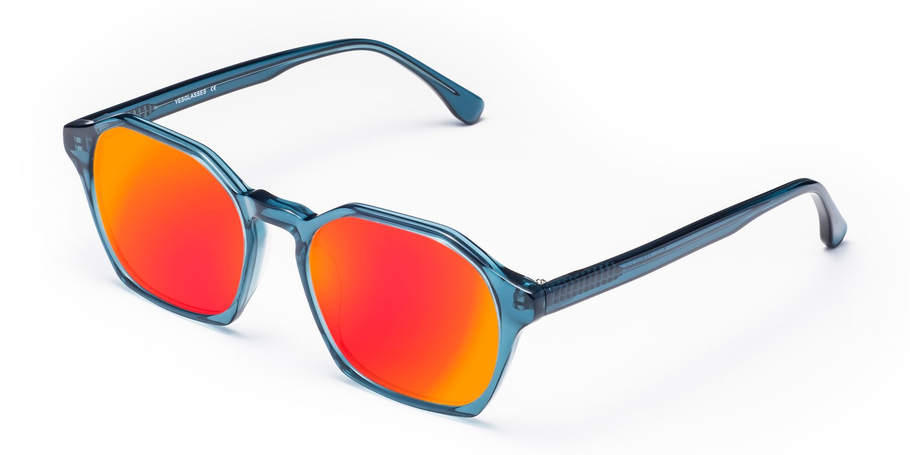 Angle of Stoltz in Ink Blue with Red Gold Mirrored Lenses