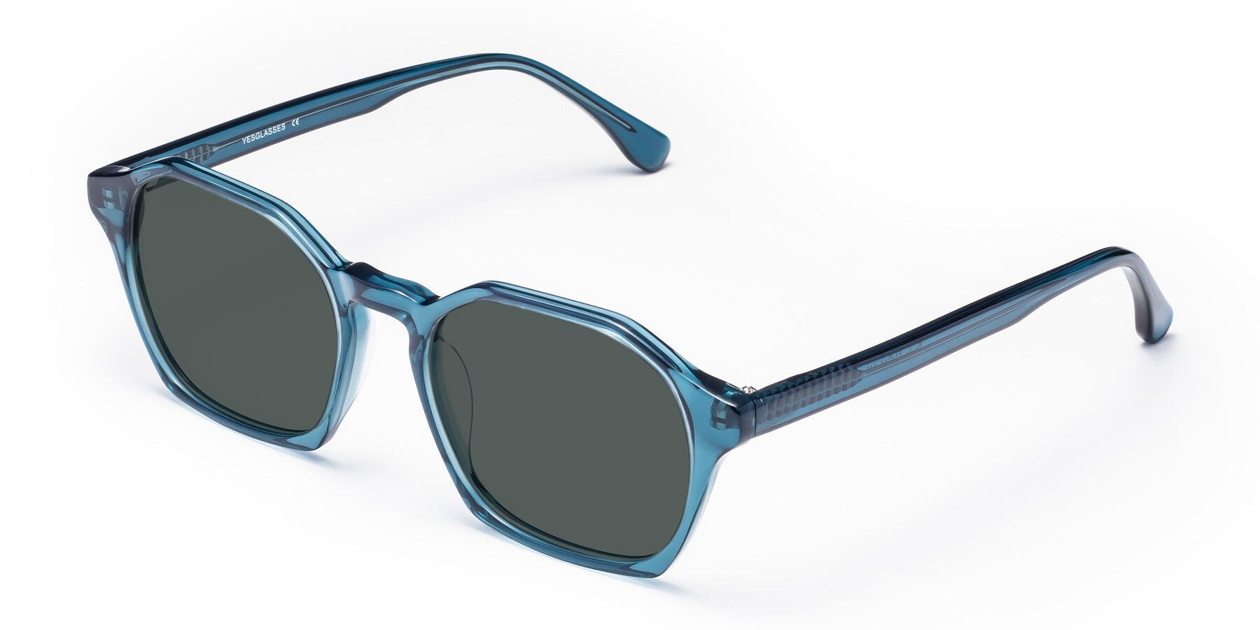 Angle of Stoltz in Ink Blue with Gray Polarized Lenses