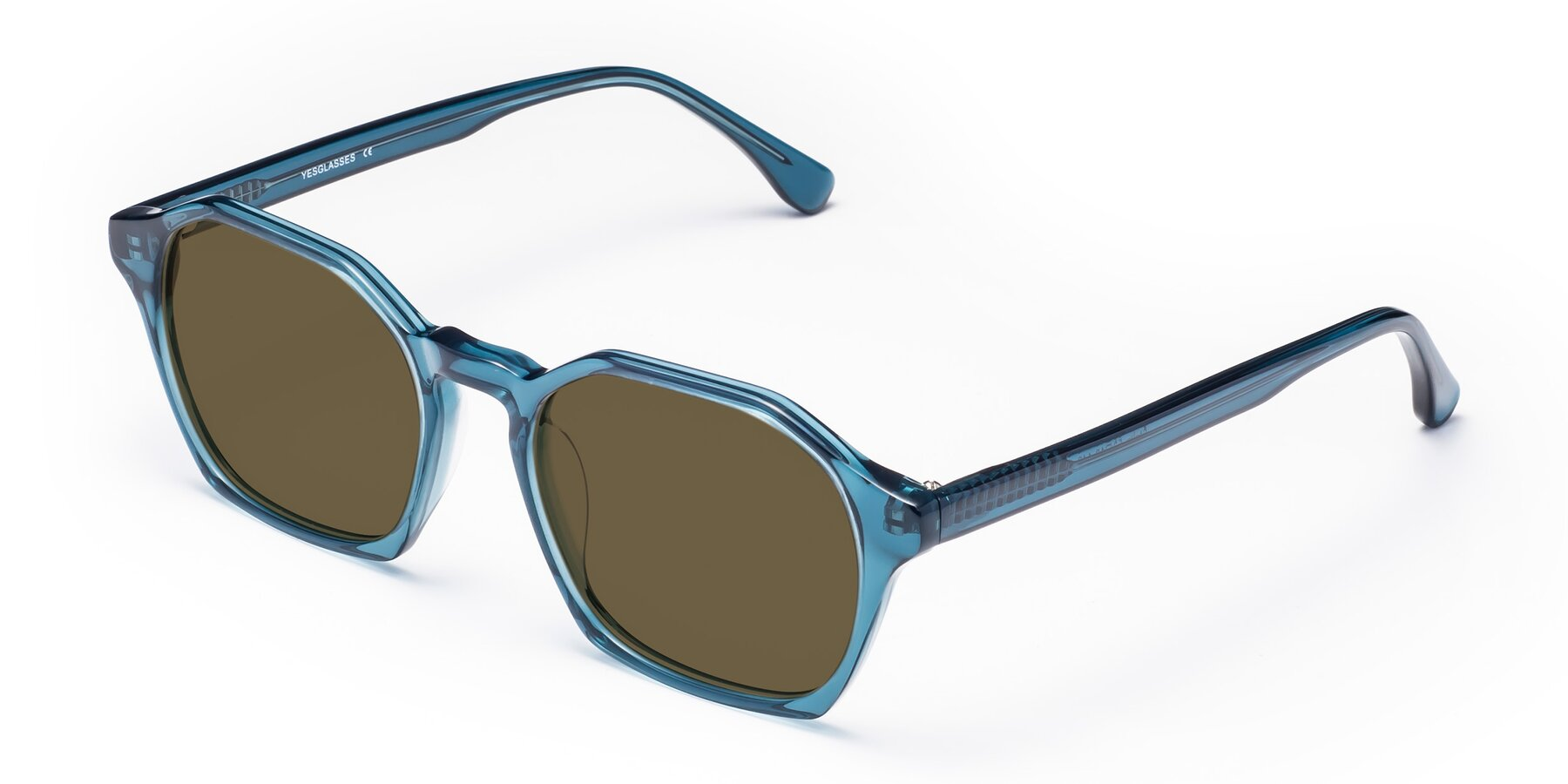 Angle of Stoltz in Ink Blue with Brown Polarized Lenses