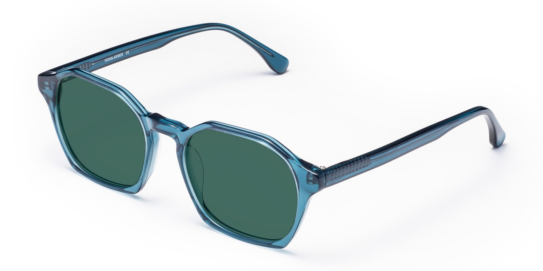 Angle of Stoltz in Ink Blue with Green Polarized Lenses