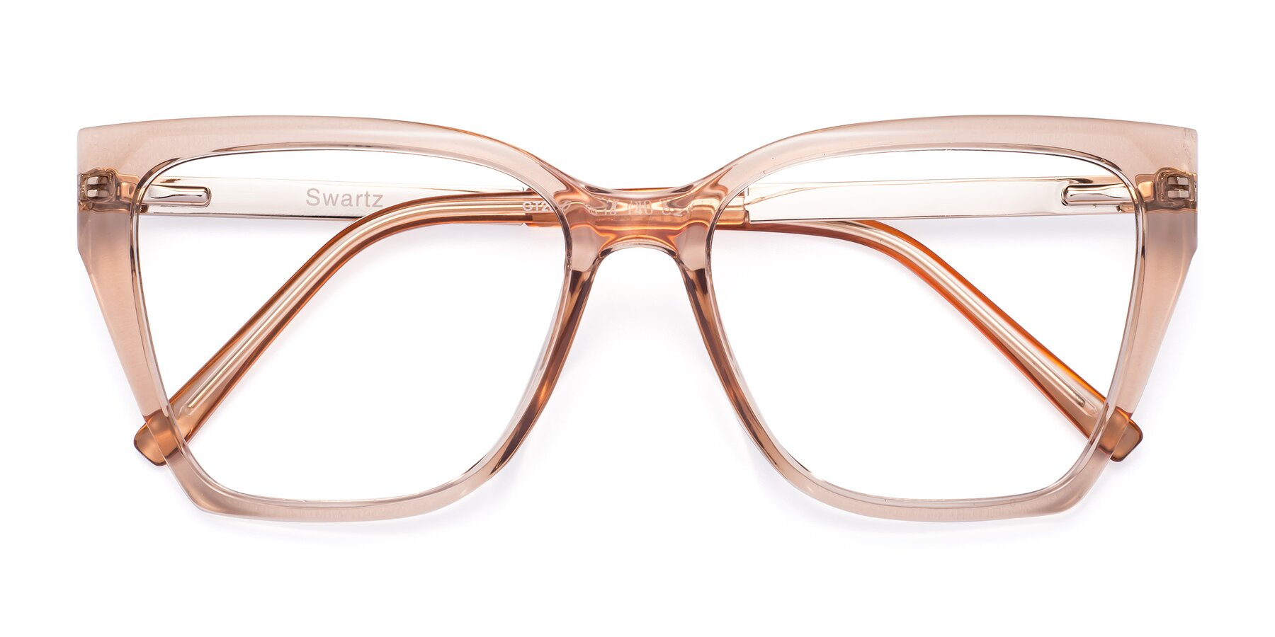 Folded Front of Swartz in Amber with Clear Blue Light Blocking Lenses