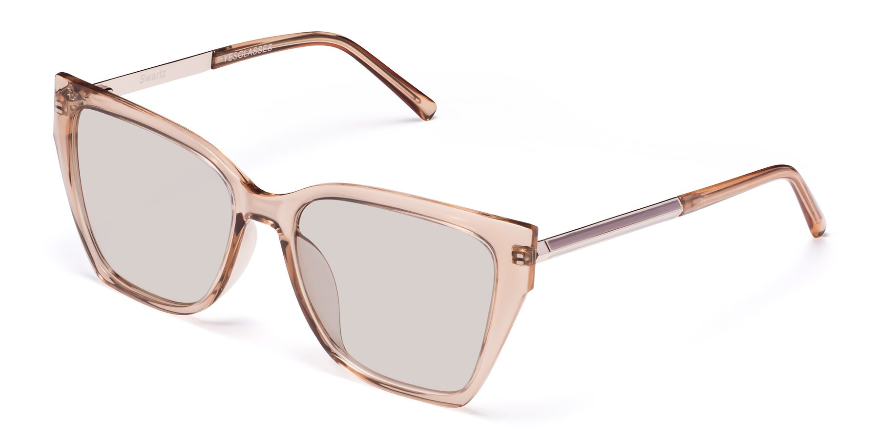 Angle of Swartz in Amber with Light Brown Tinted Lenses