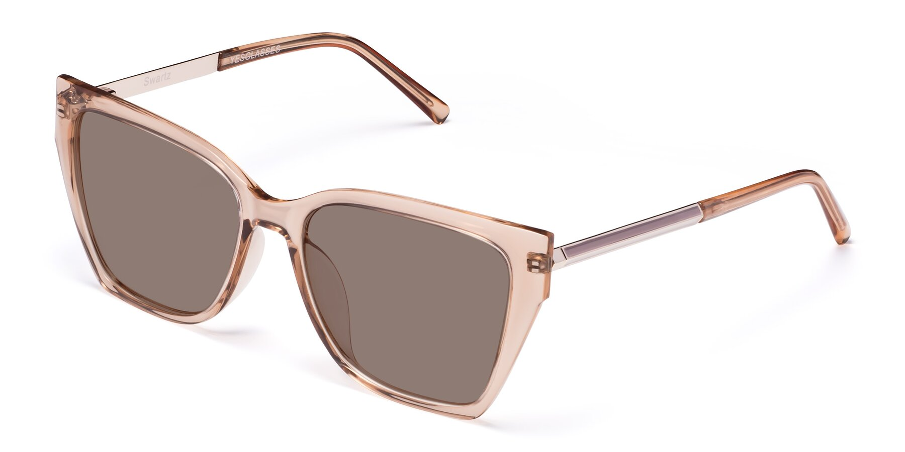 Angle of Swartz in Amber with Medium Brown Tinted Lenses
