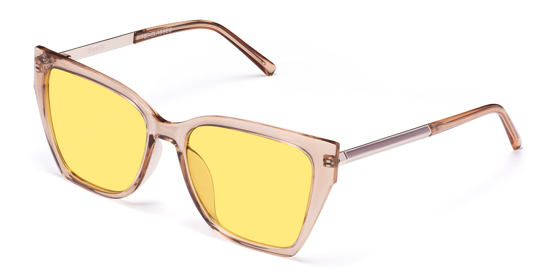 Angle of Swartz in Amber with Medium Yellow Tinted Lenses