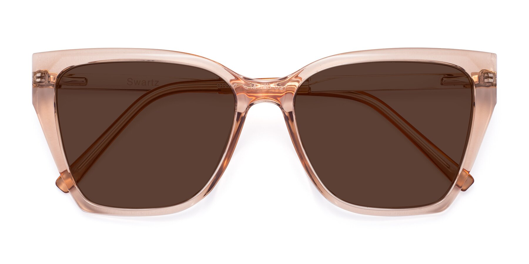 Folded Front of Swartz in Amber with Brown Tinted Lenses