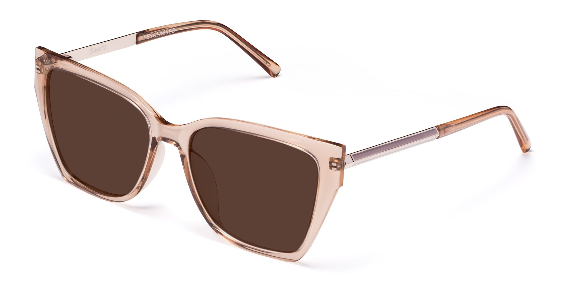 Angle of Swartz in Amber with Brown Tinted Lenses