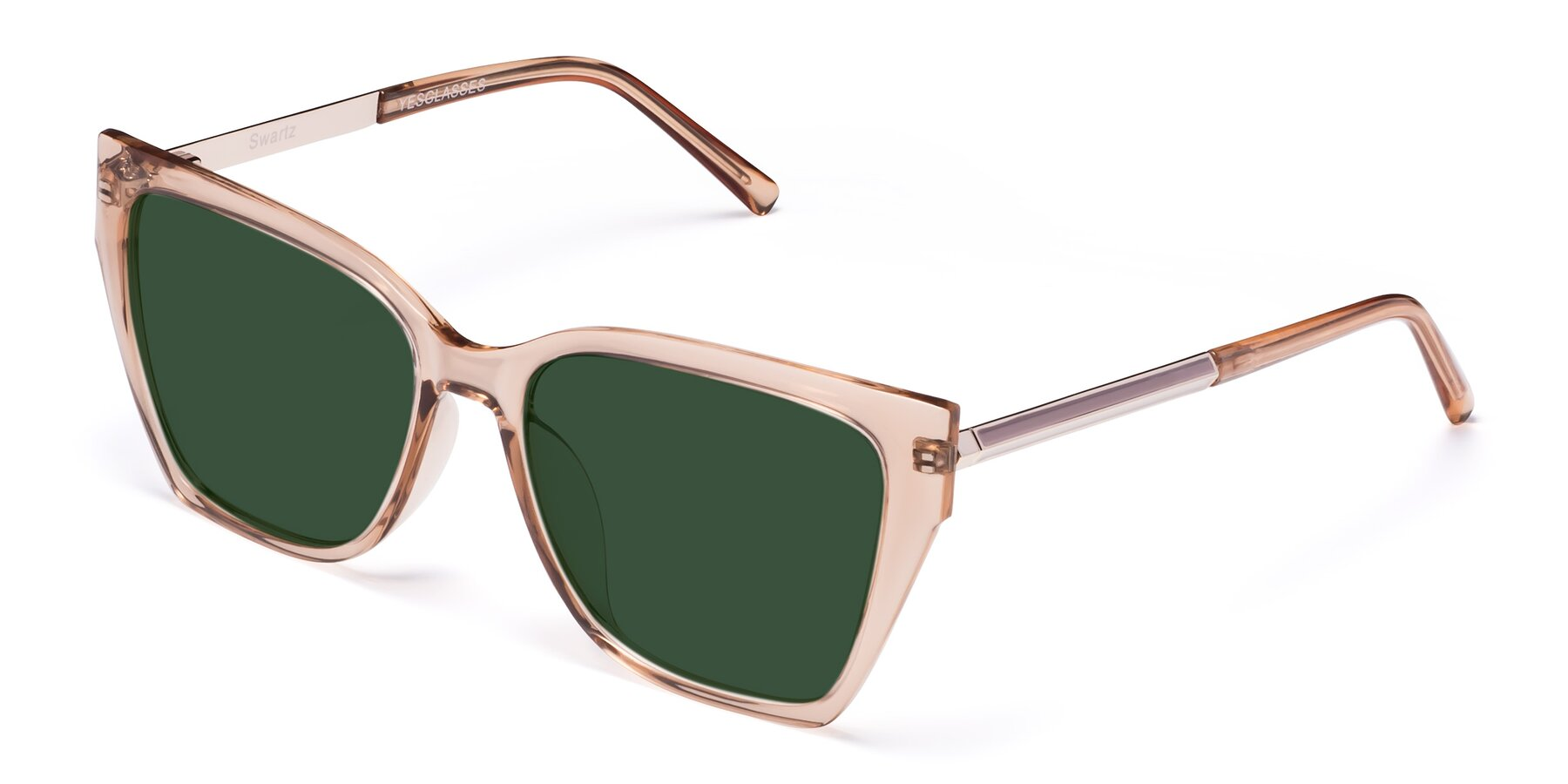 Angle of Swartz in Amber with Green Tinted Lenses