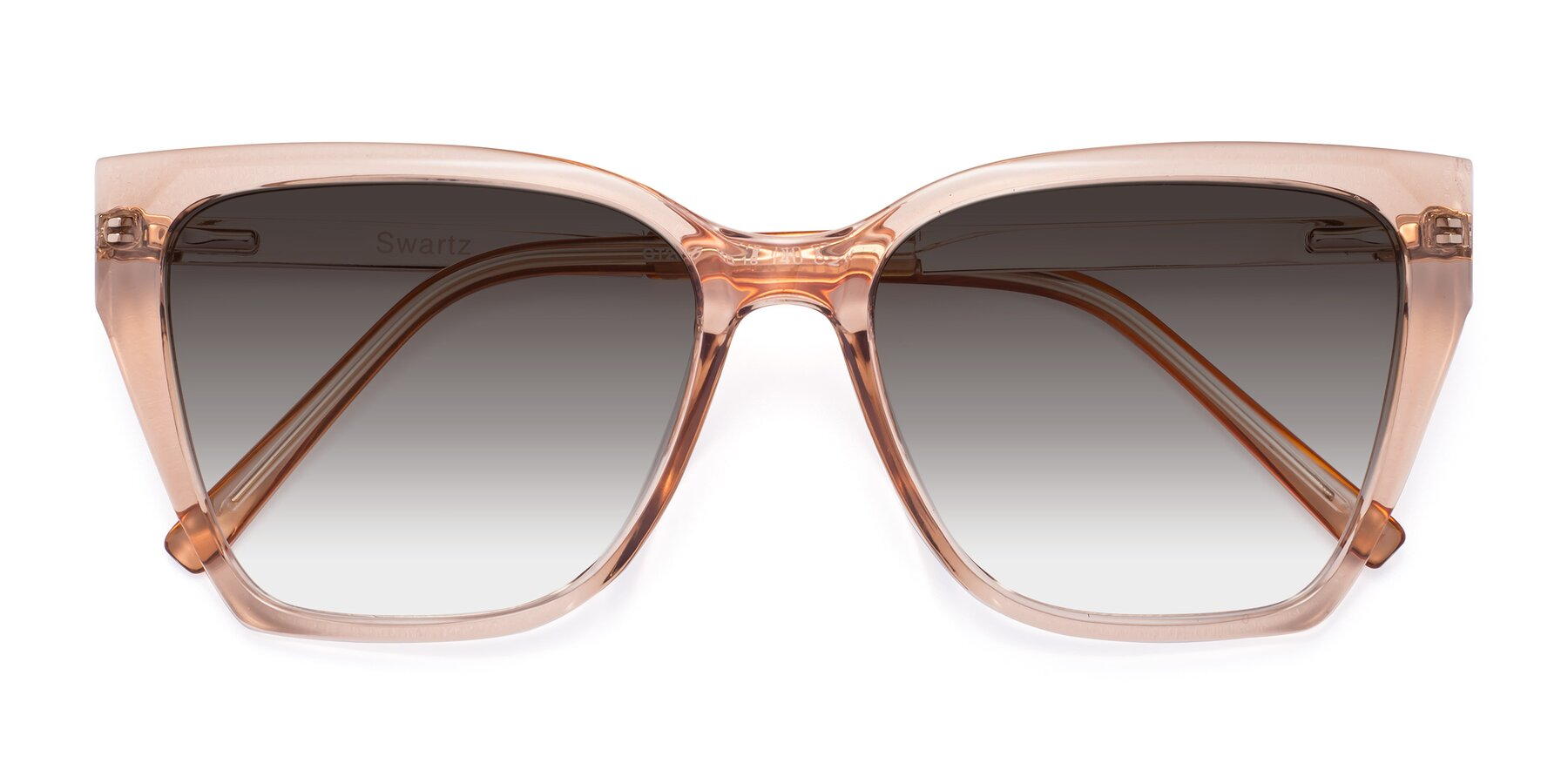 Folded Front of Swartz in Amber with Gray Gradient Lenses