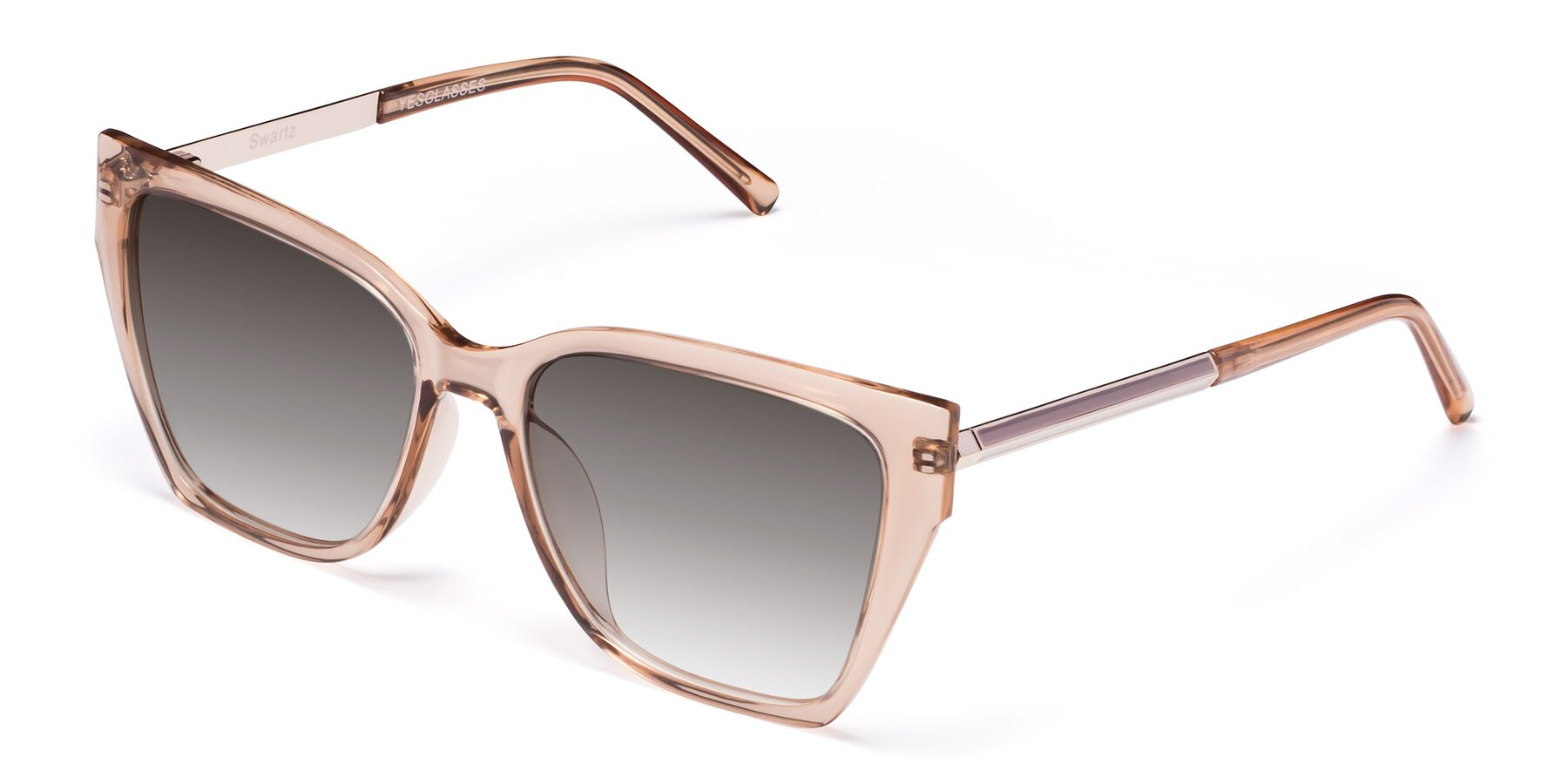 Angle of Swartz in Amber with Gray Gradient Lenses