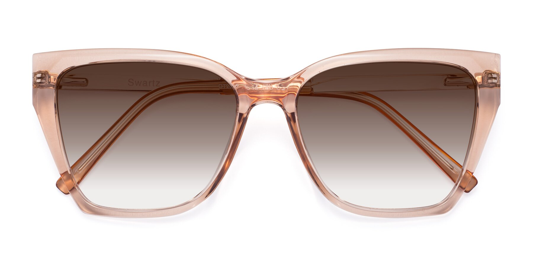 Folded Front of Swartz in Amber with Brown Gradient Lenses