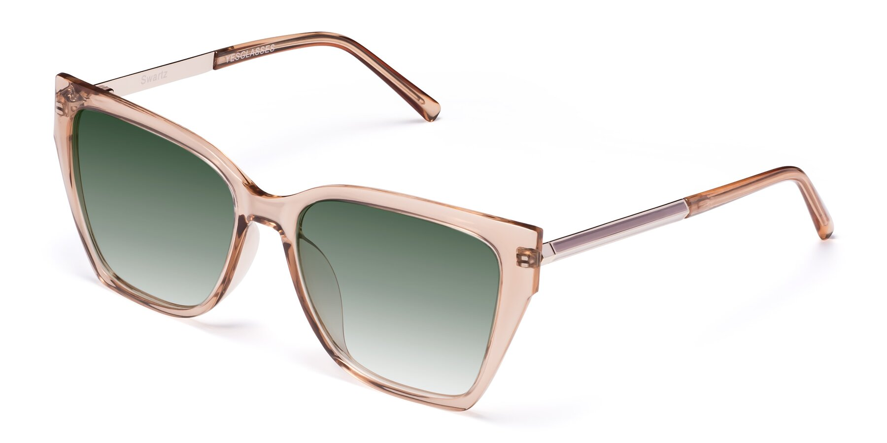 Angle of Swartz in Amber with Green Gradient Lenses