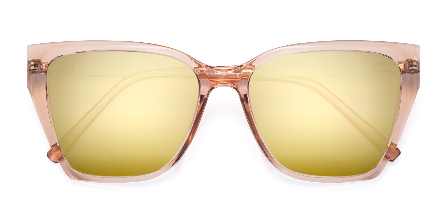 Folded Front of Swartz in Amber with Gold Mirrored Lenses