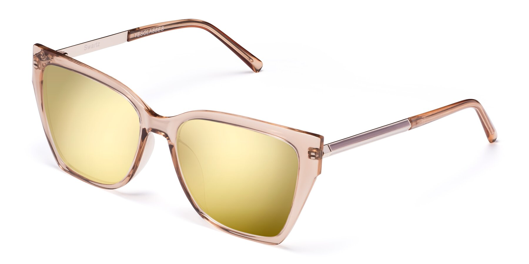 Angle of Swartz in Amber with Gold Mirrored Lenses
