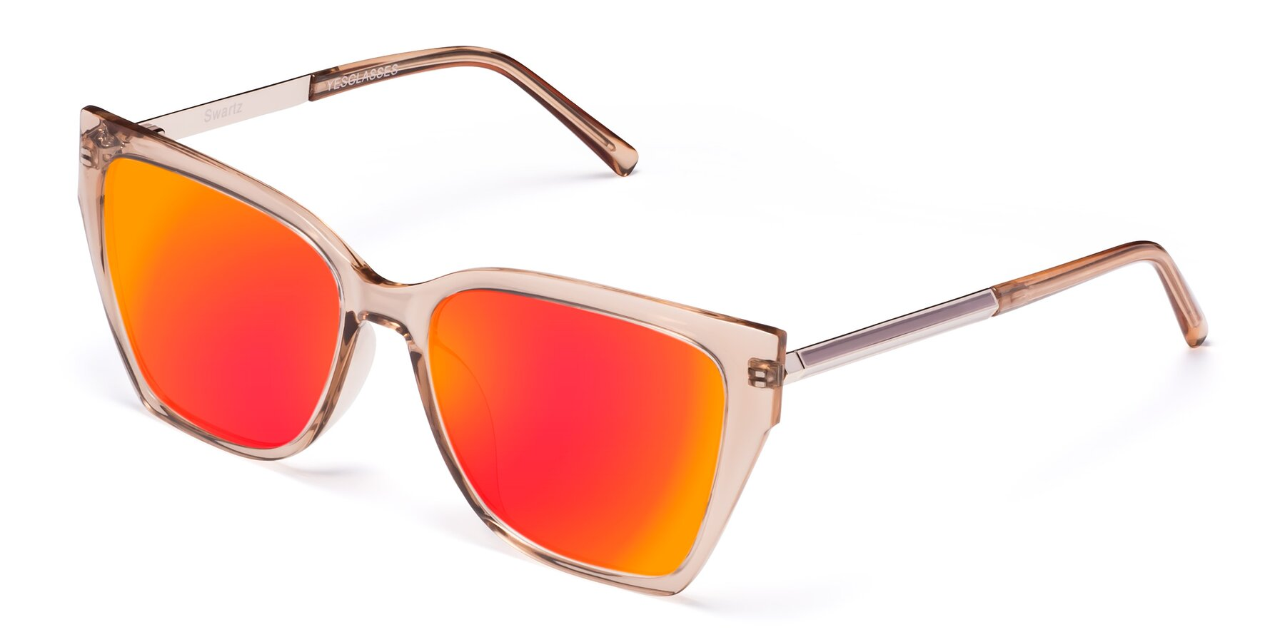 Angle of Swartz in Amber with Red Gold Mirrored Lenses