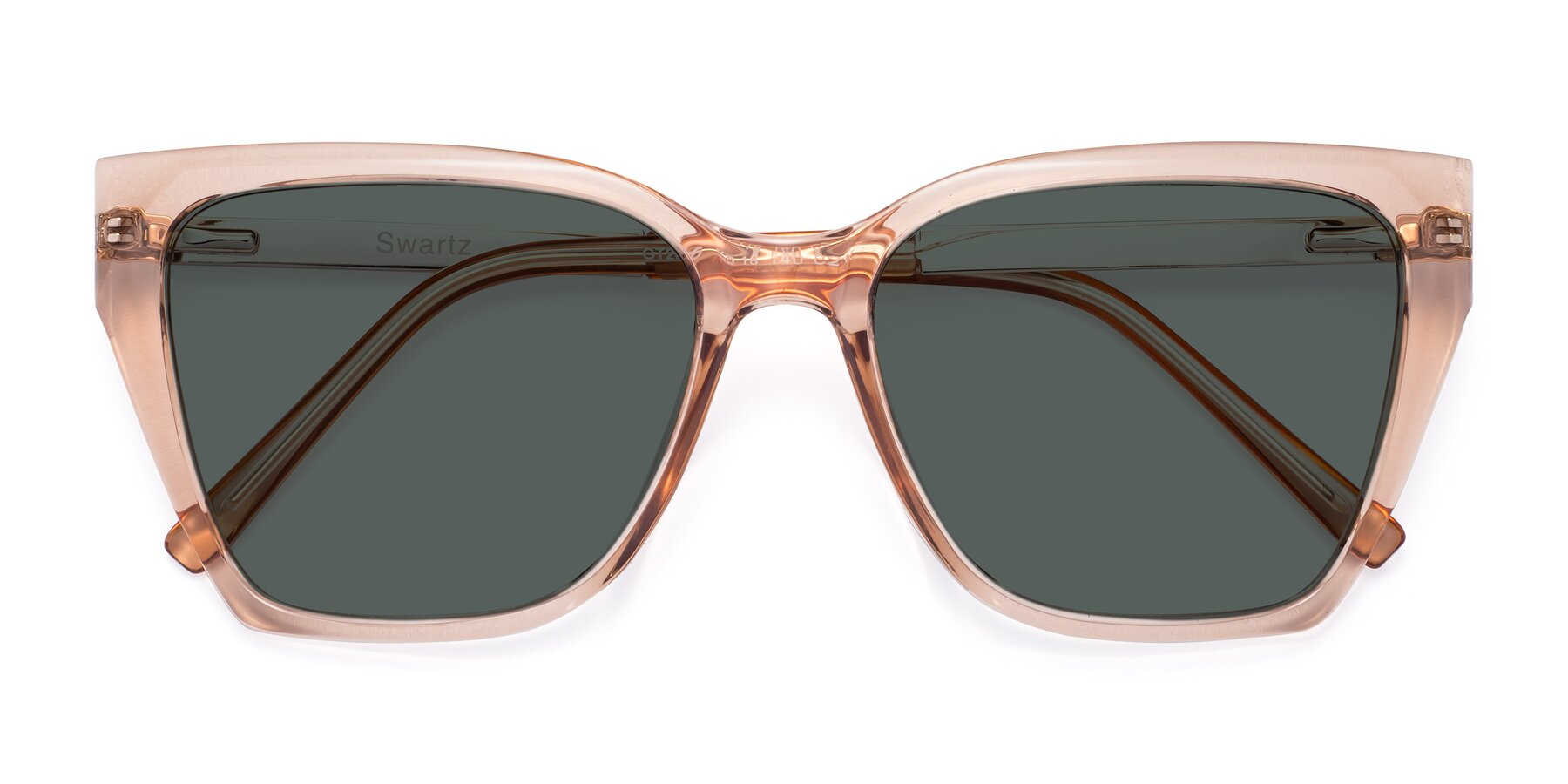 Folded Front of Swartz in Amber with Gray Polarized Lenses
