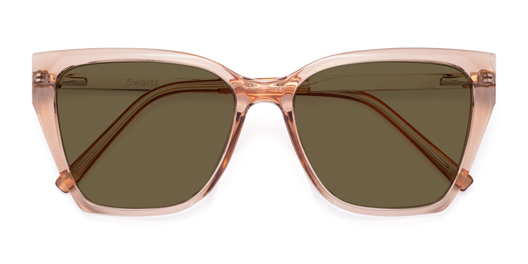 Folded Front of Swartz in Amber with Brown Polarized Lenses