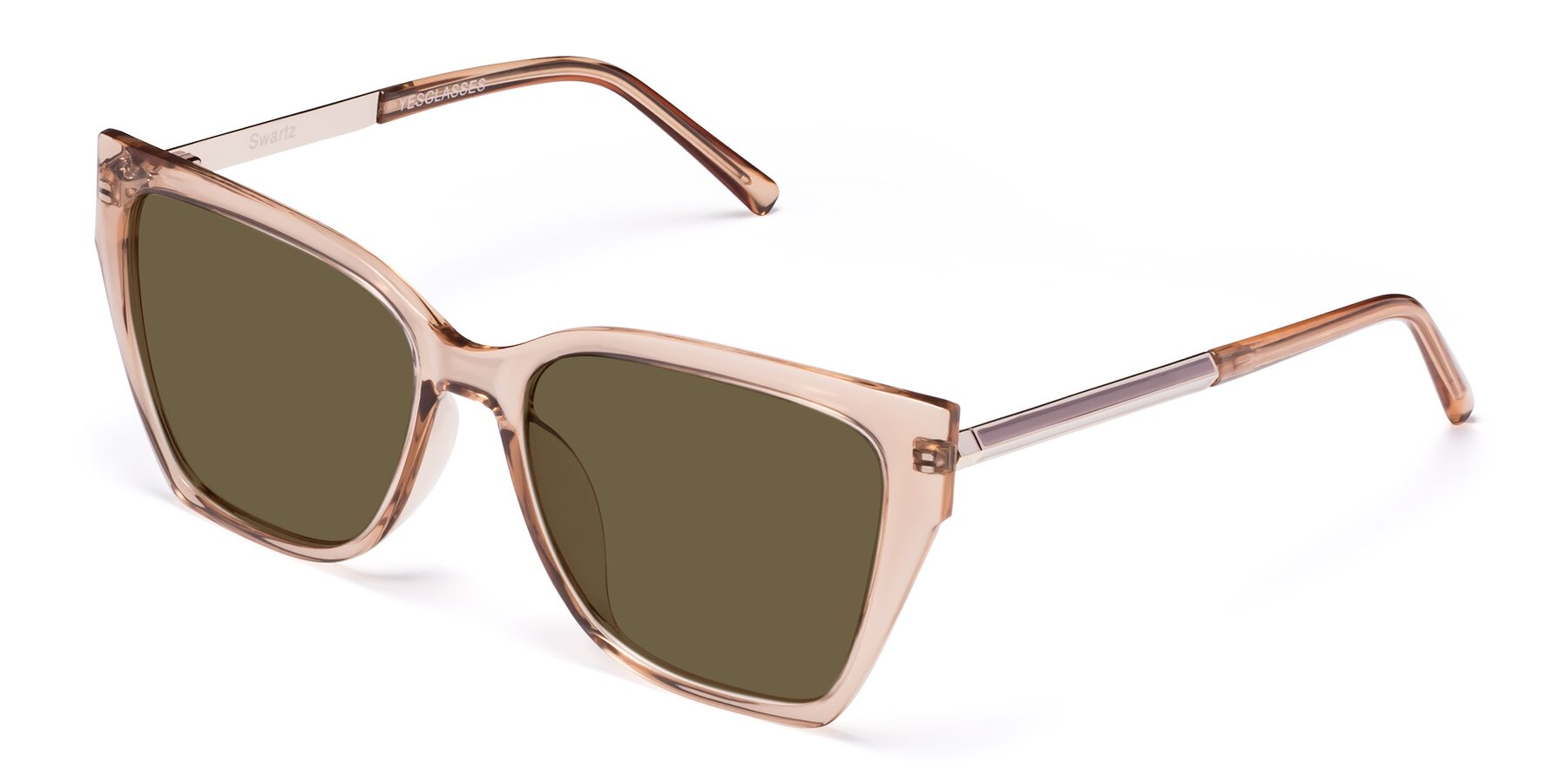 Angle of Swartz in Amber with Brown Polarized Lenses