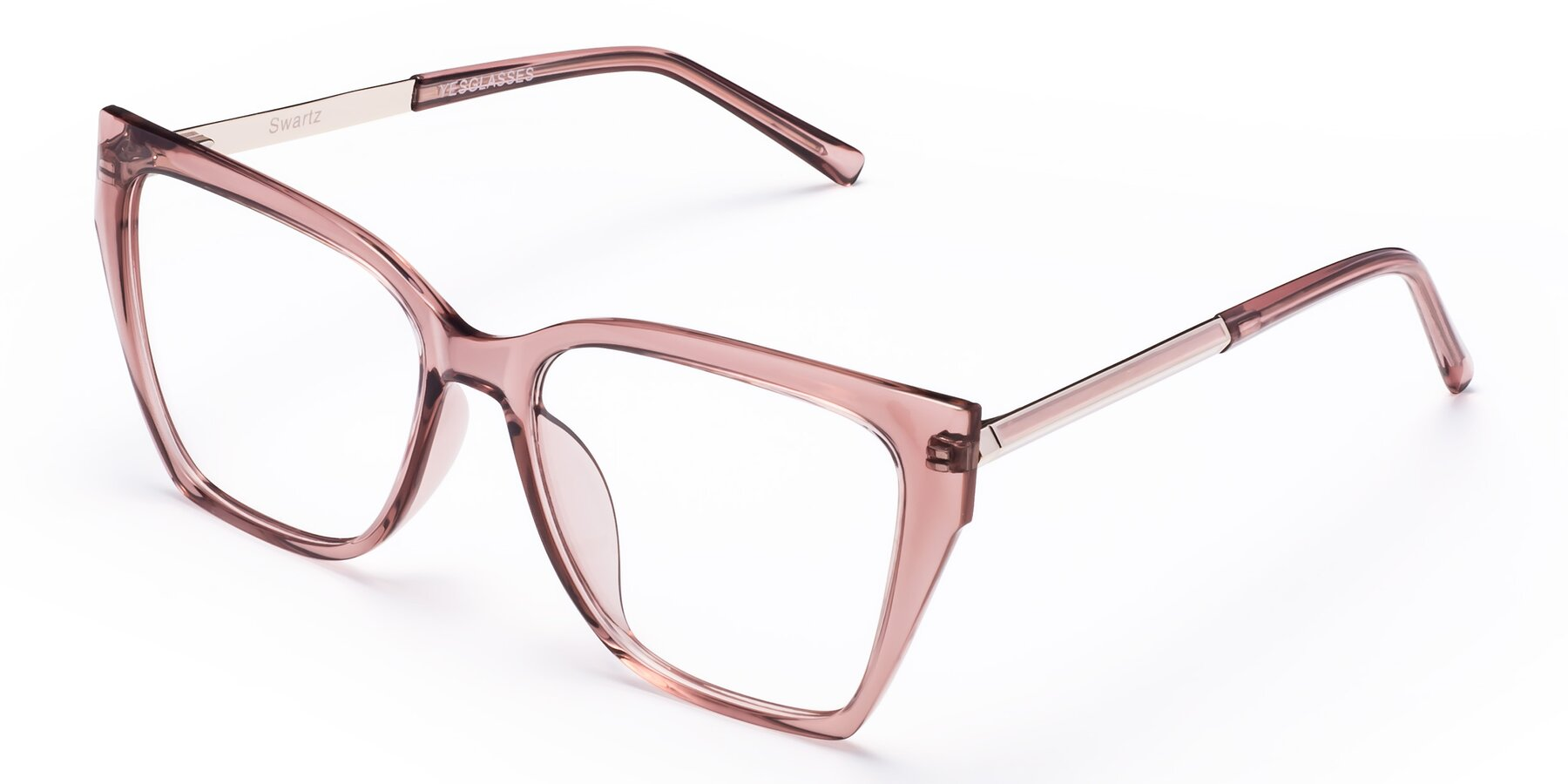 Angle of Swartz in Grape with Clear Eyeglass Lenses