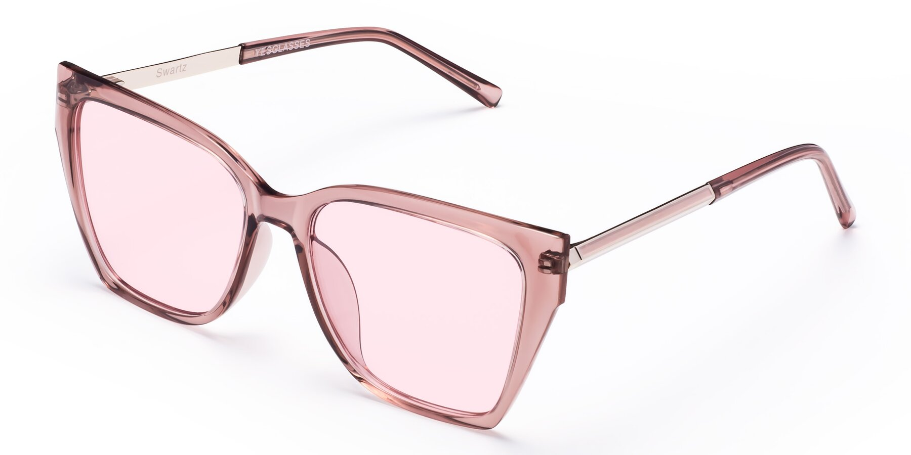 Angle of Swartz in Grape with Light Pink Tinted Lenses