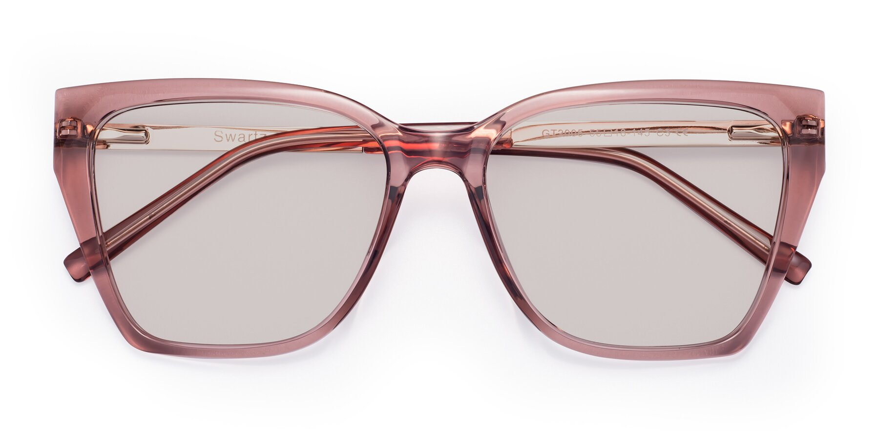 Folded Front of Swartz in Grape with Light Brown Tinted Lenses