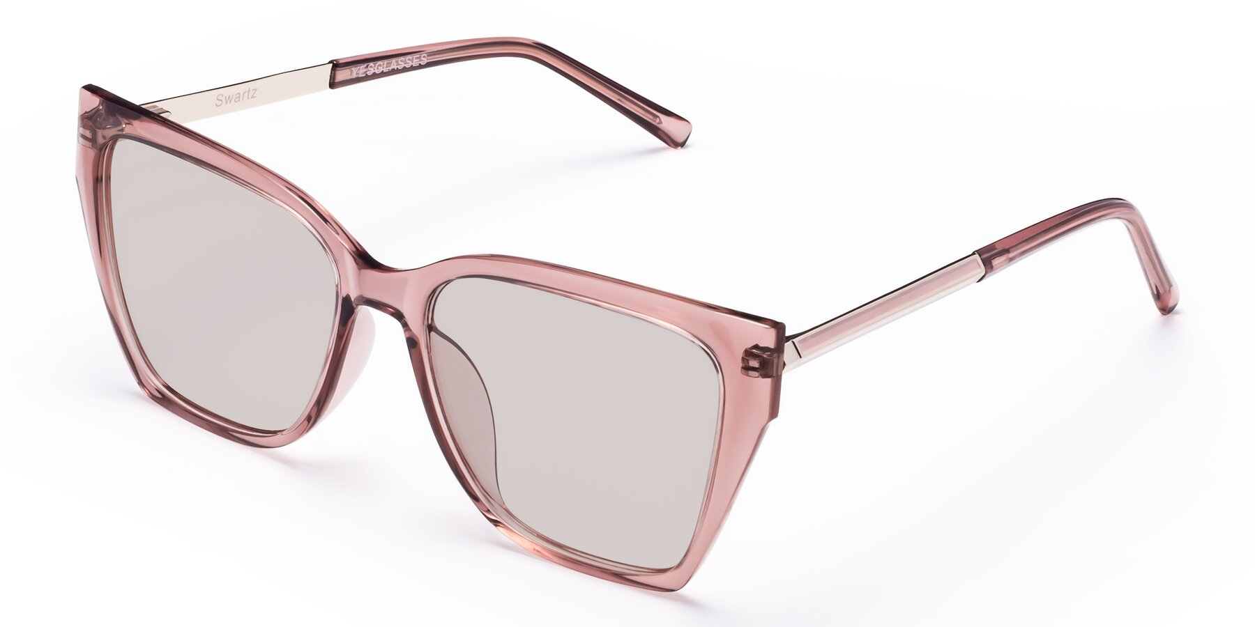Angle of Swartz in Grape with Light Brown Tinted Lenses