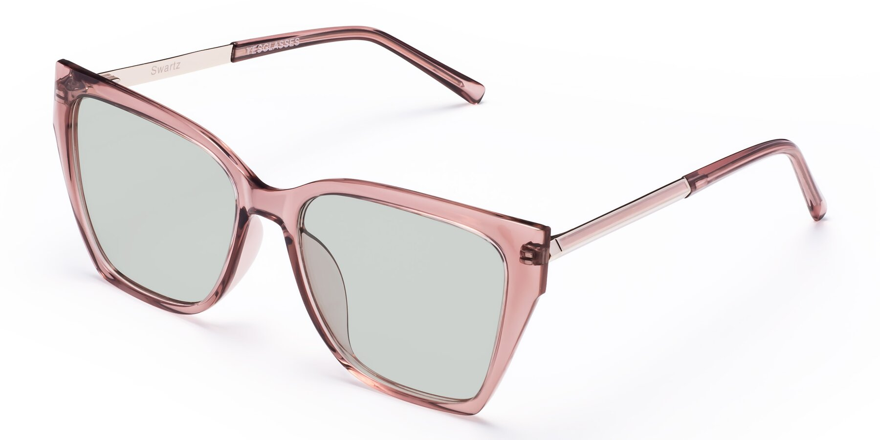 Angle of Swartz in Grape with Light Green Tinted Lenses