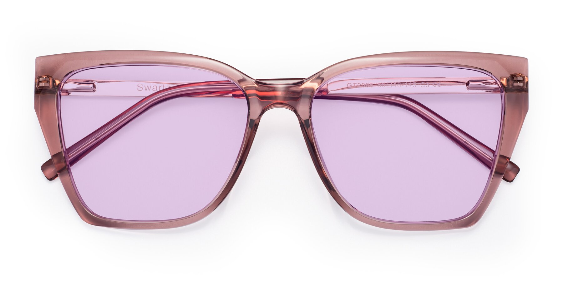 Folded Front of Swartz in Grape with Light Purple Tinted Lenses
