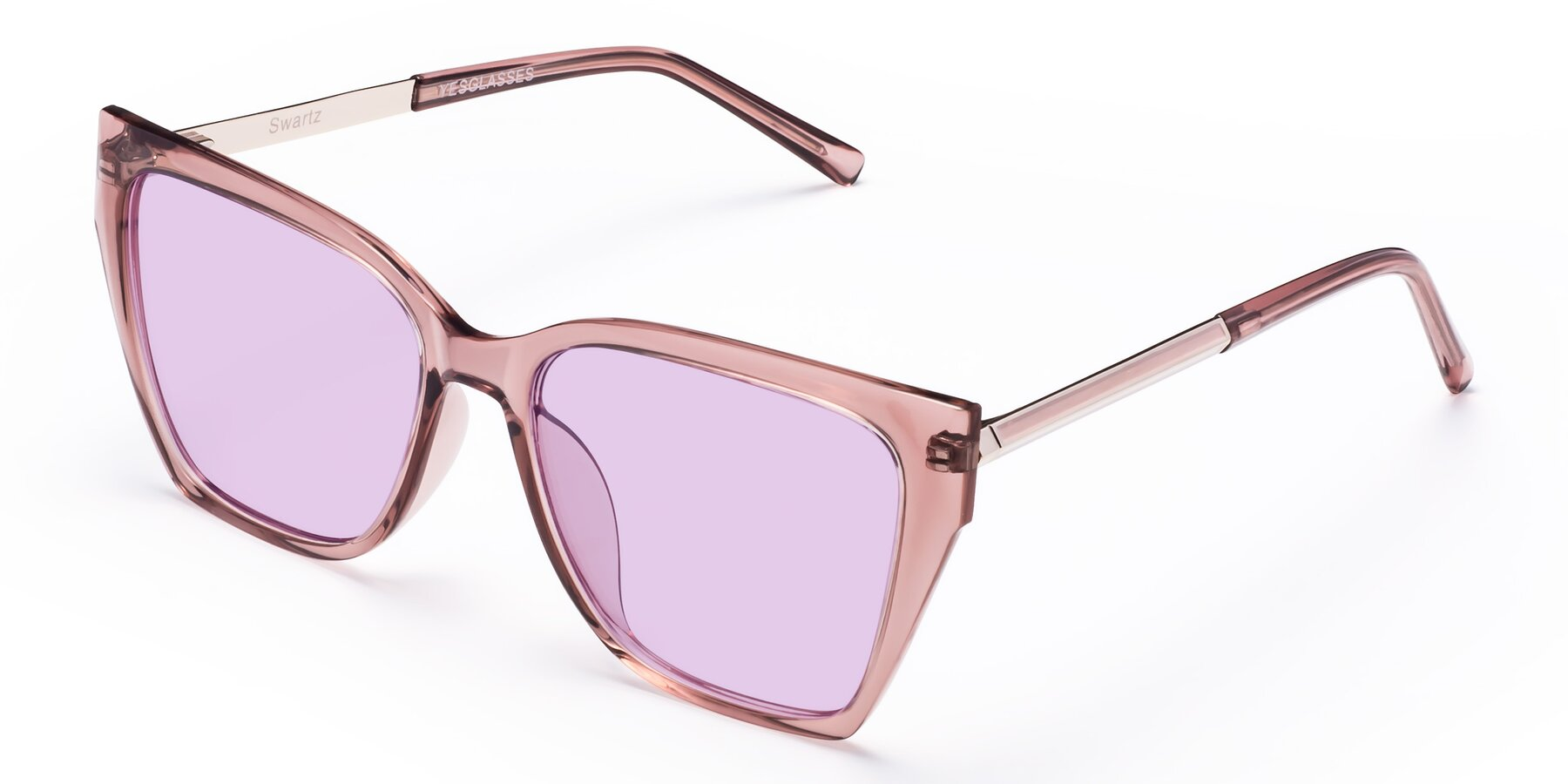 Angle of Swartz in Grape with Light Purple Tinted Lenses