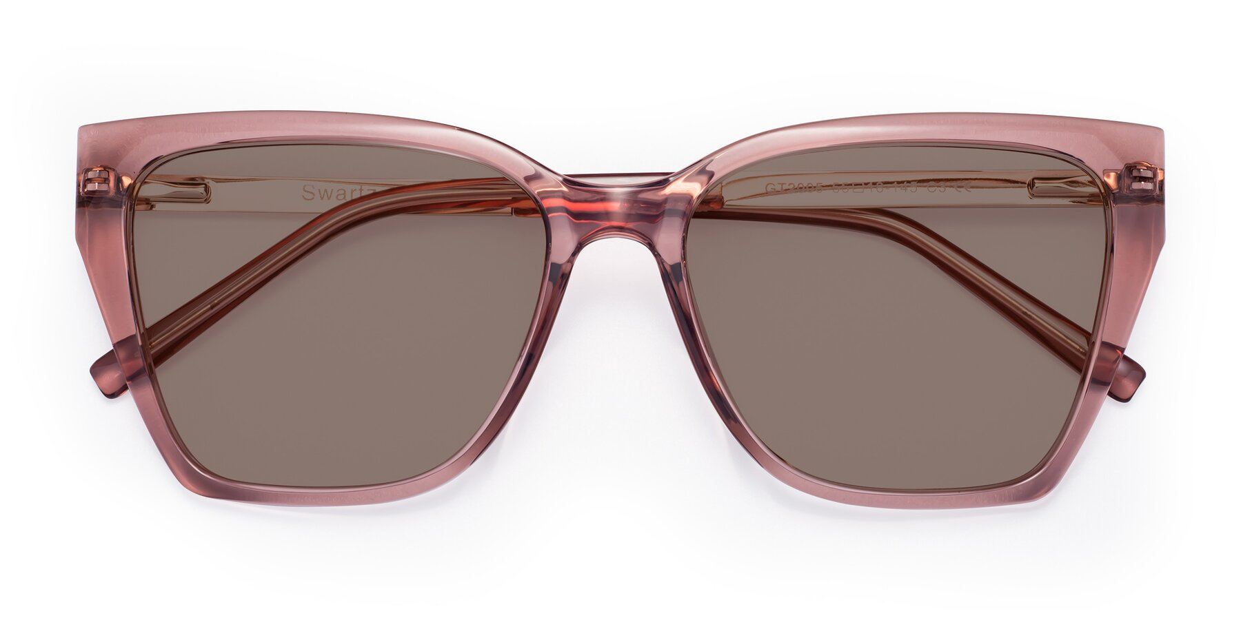 Folded Front of Swartz in Grape with Medium Brown Tinted Lenses