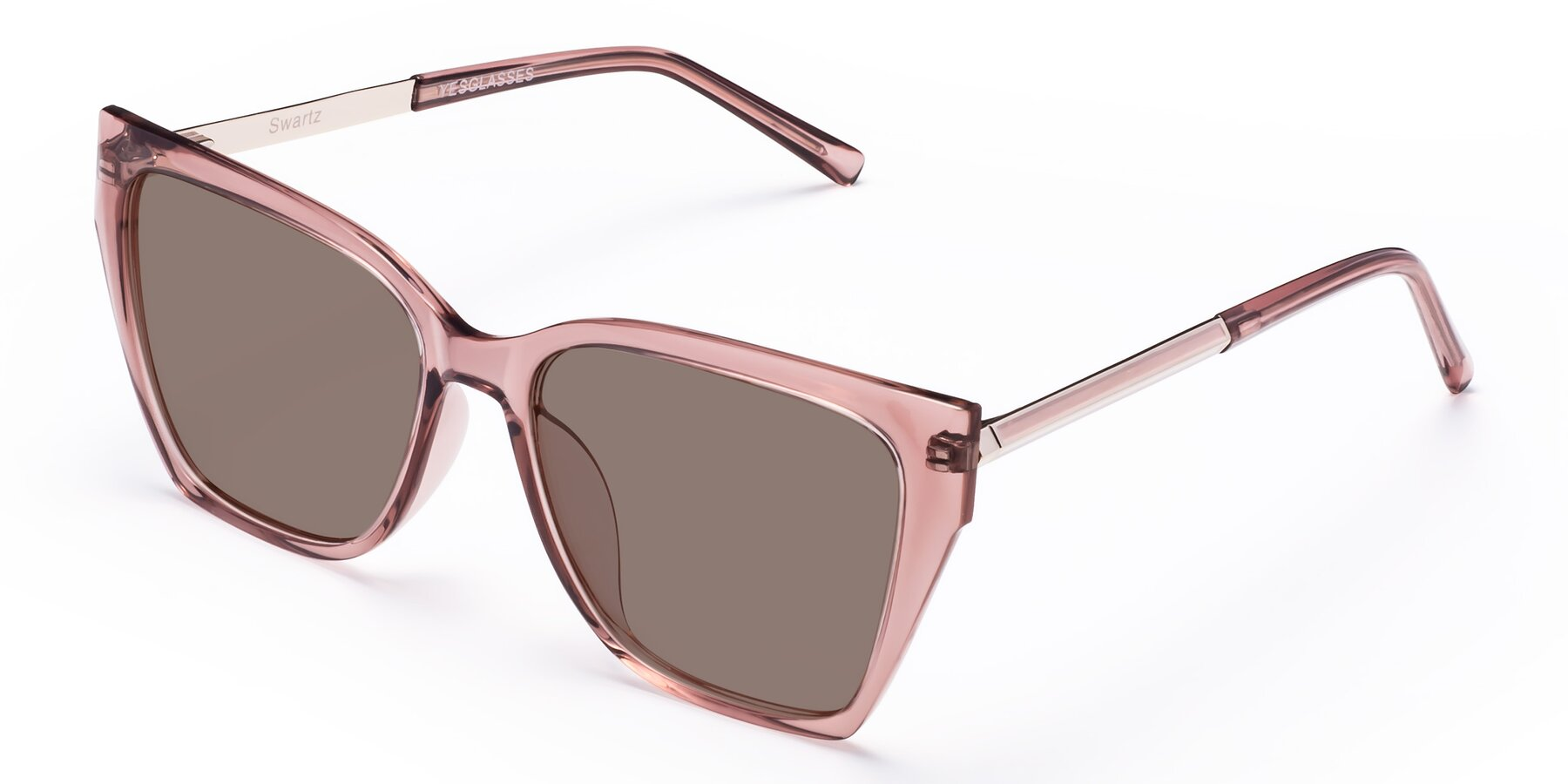 Angle of Swartz in Grape with Medium Brown Tinted Lenses