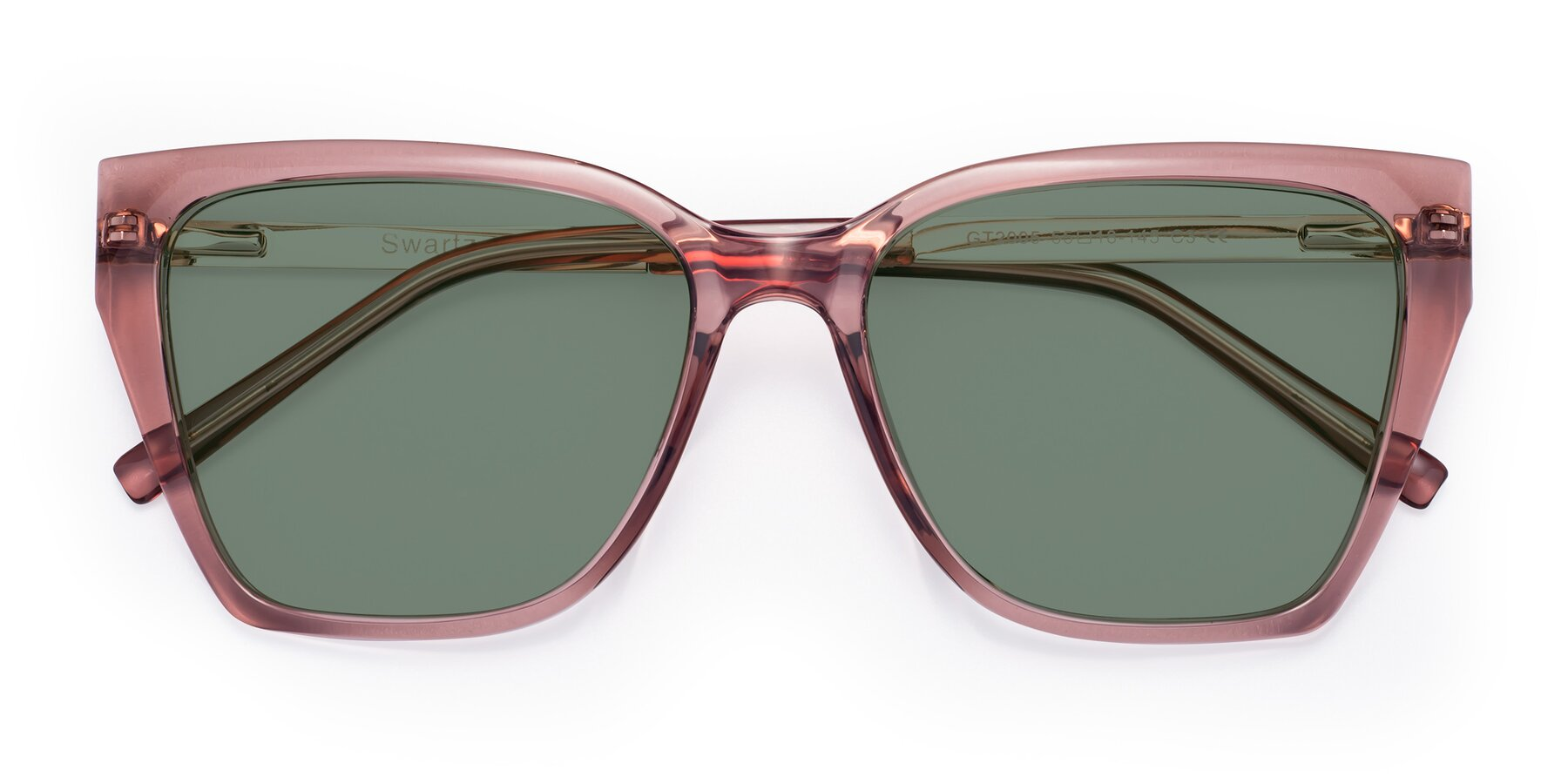 Folded Front of Swartz in Grape with Medium Green Tinted Lenses