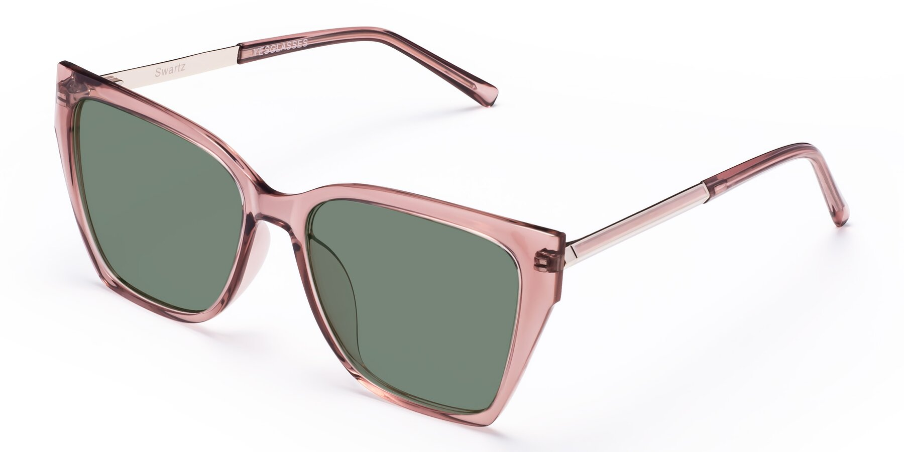 Angle of Swartz in Grape with Medium Green Tinted Lenses