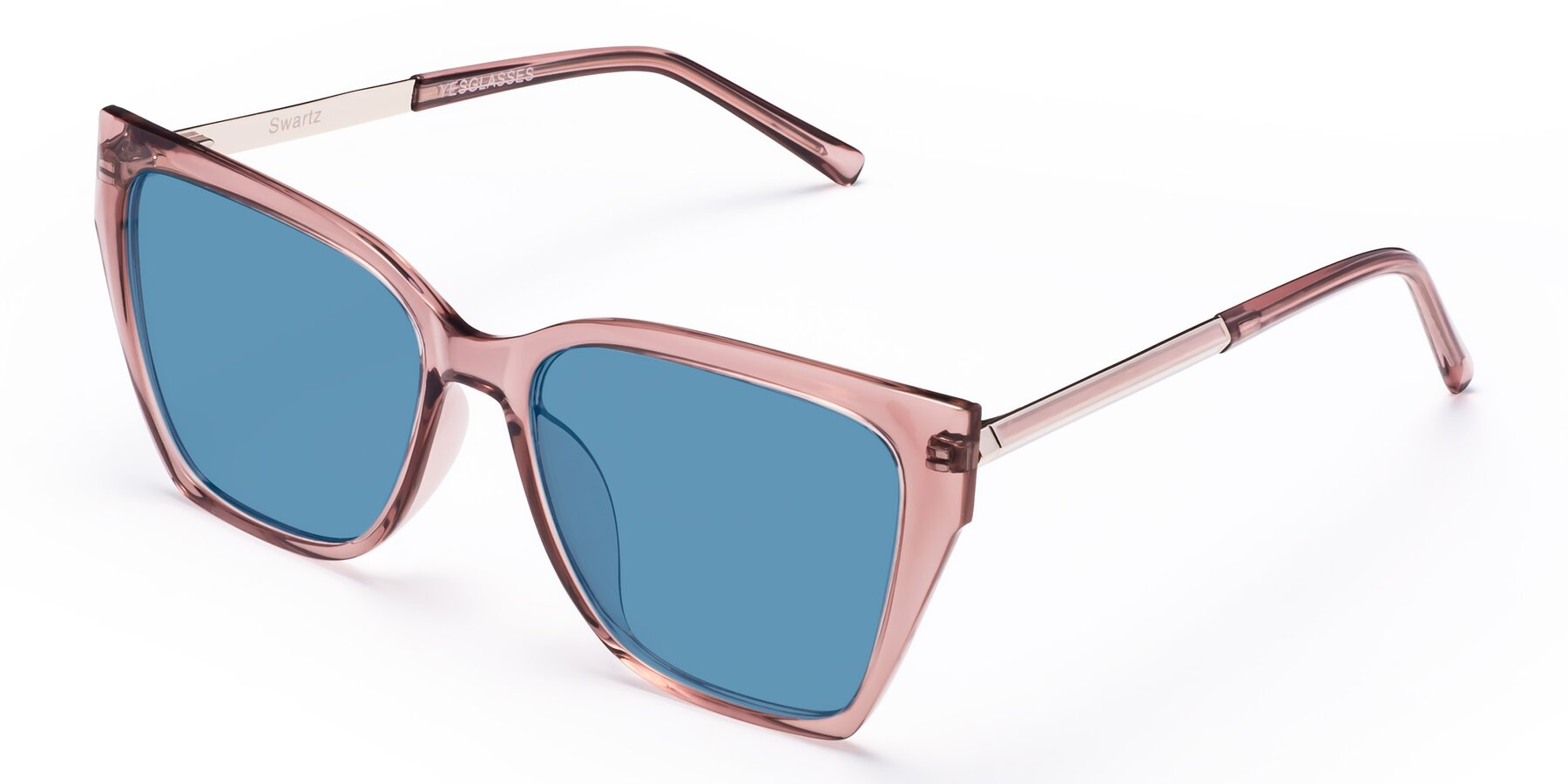 Angle of Swartz in Grape with Medium Blue Tinted Lenses