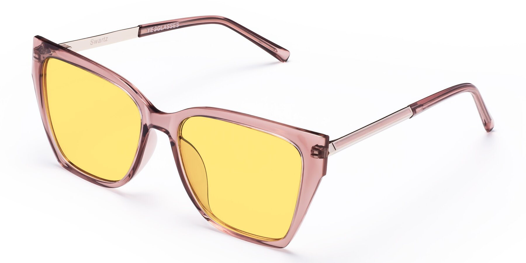 Angle of Swartz in Grape with Medium Yellow Tinted Lenses