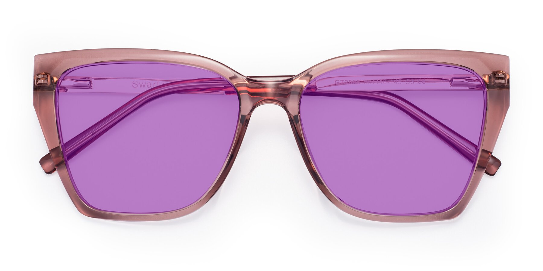 Folded Front of Swartz in Grape with Medium Purple Tinted Lenses