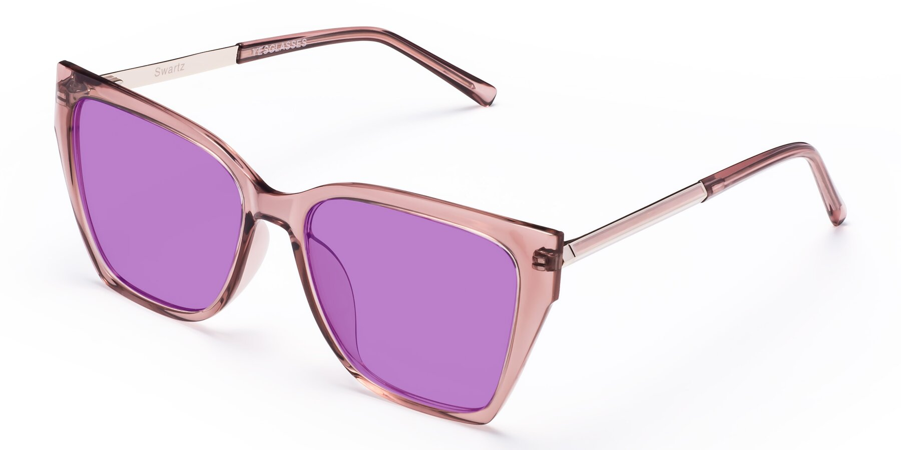 Angle of Swartz in Grape with Medium Purple Tinted Lenses