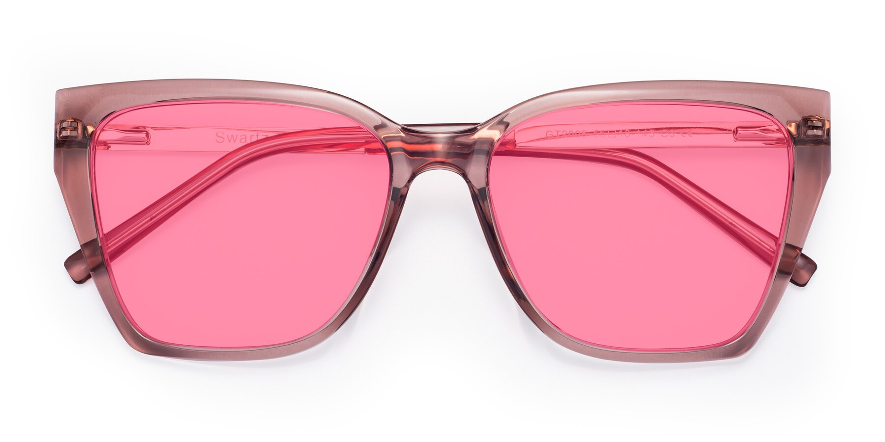 Folded Front of Swartz in Grape with Pink Tinted Lenses