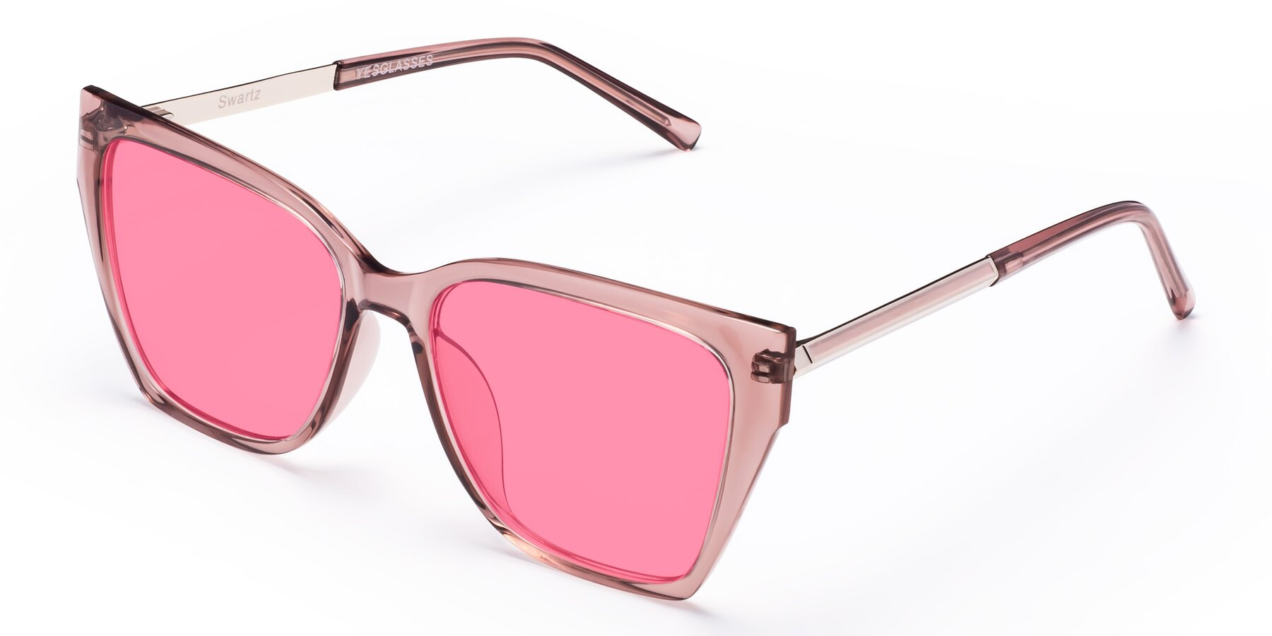 Angle of Swartz in Grape with Pink Tinted Lenses