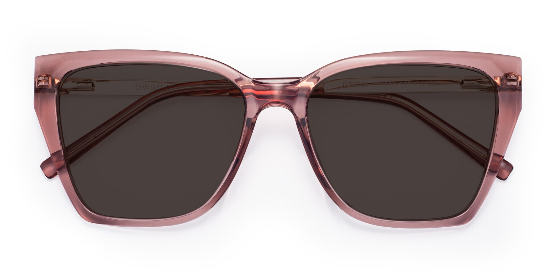 Folded Front of Swartz in Grape with Gray Tinted Lenses