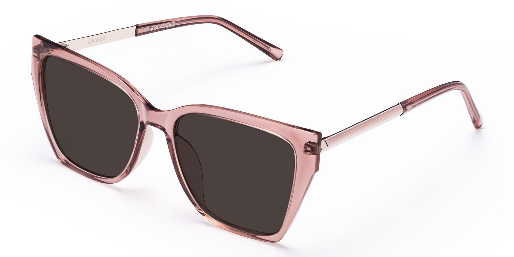 Angle of Swartz in Grape with Gray Tinted Lenses