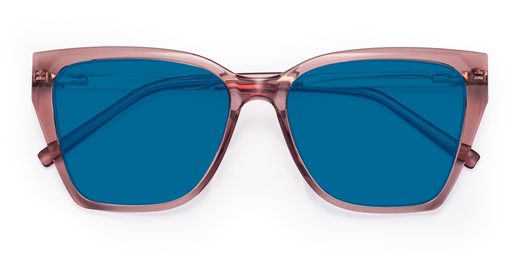 Folded Front of Swartz in Grape with Blue Tinted Lenses