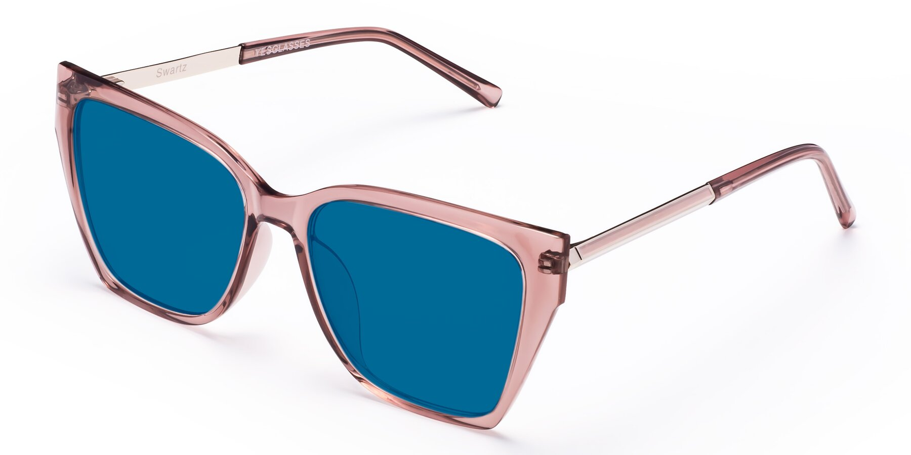 Angle of Swartz in Grape with Blue Tinted Lenses