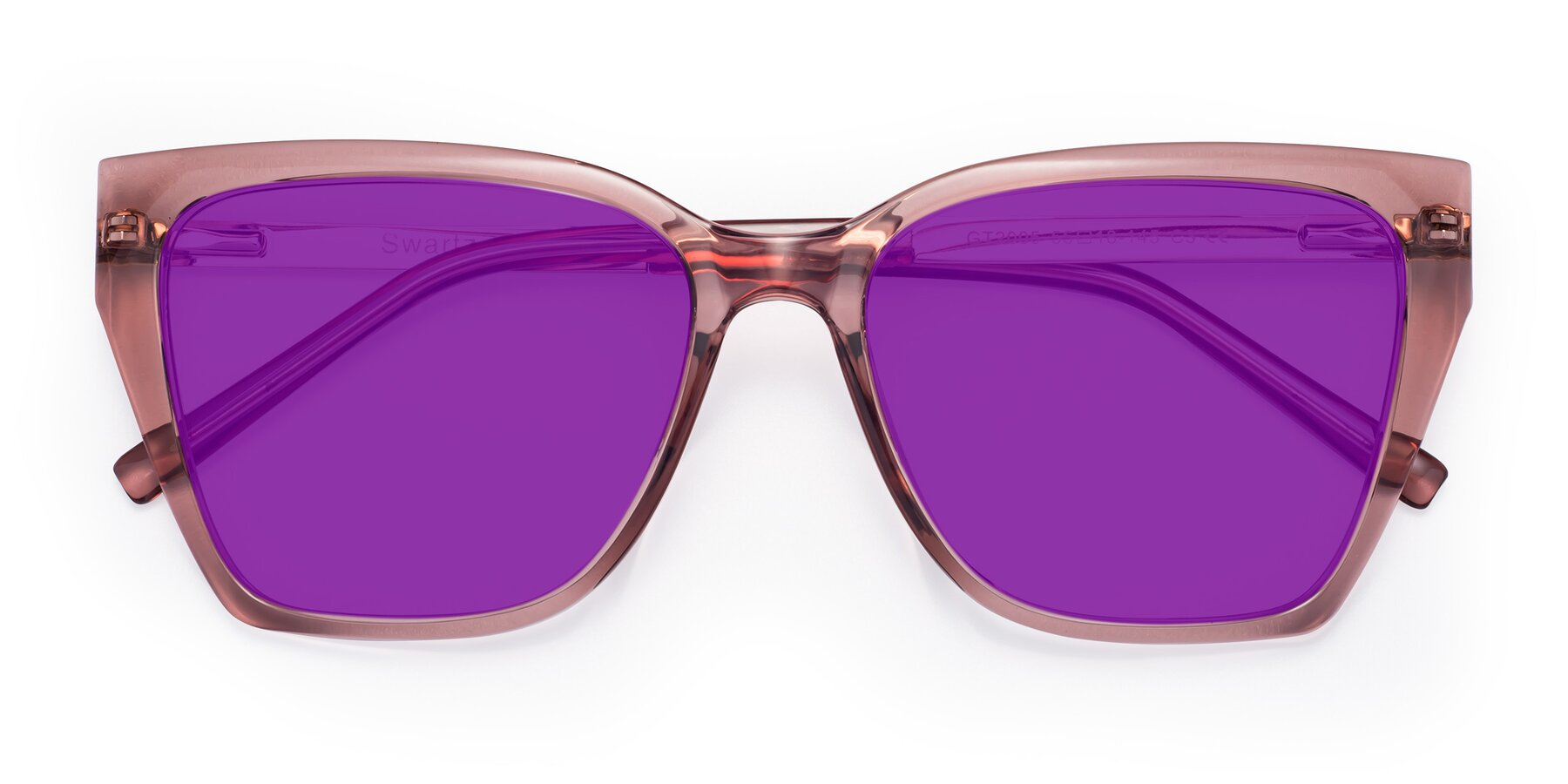 Folded Front of Swartz in Grape with Purple Tinted Lenses